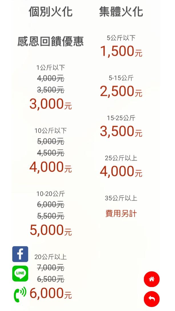 萬里福田收費