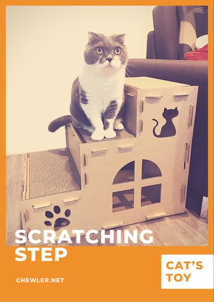 造型貓抓板階梯開箱文 [豬樂的周年禮 : 極不雷之貓兔愛用紙箱玩具]
