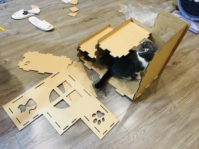 貓抓板階梯