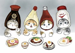日本插畫家「ぢゅの」さん療癒系肥美貓風插畫 [一秒溶化你的心]