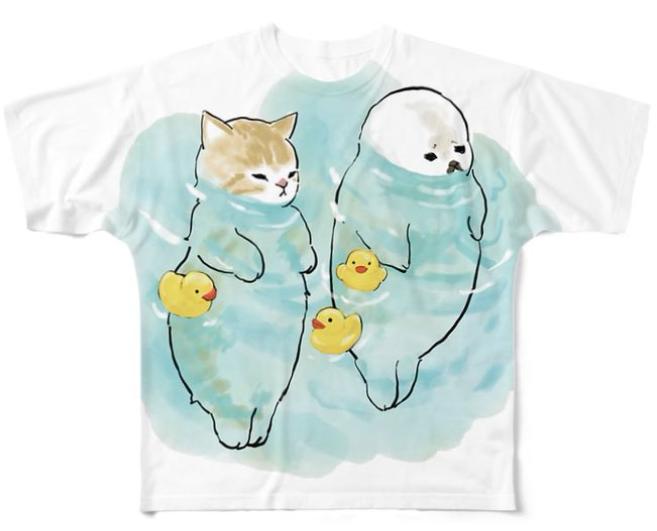 日本貓咪插畫T